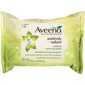 【彤彤小舖】Aveeno Active Naturals 溫和卸妝棉片 25片裝 輕鬆卸除化妝痕跡,防水睫毛膏