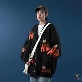 針織外套女韓版寬鬆休閒毛衣氣質百搭開衫上衣【橘社小鎮】