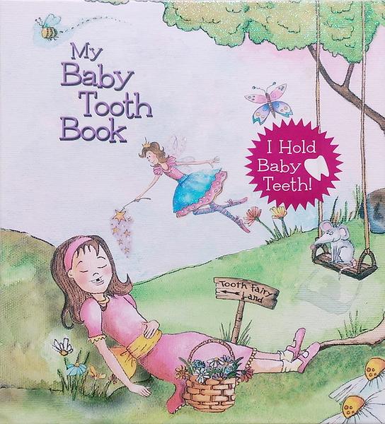 美國進口 Baby tooth album 乳齒保存盒 乳牙保存盒 乳牙盒 乳齒盒 女生款(1315) -超級BABY
