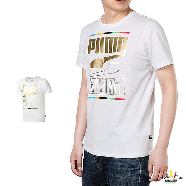 Puma Rebel 男 白色 短袖 上衣 基本系列 棉質 短T 圓領衫 短袖T恤 58658902