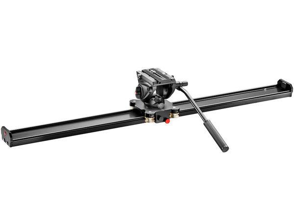 曼富圖 Manfrotto MVS100AMVH500AH 攝影腳架專用滑軌 100cm + MVH500AH 雲台套組【公司貨】