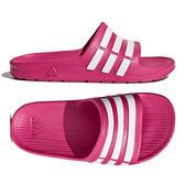 Adidas Duramo Slide K 女 桃紅色 運動拖鞋 大童鞋 休閒 防水 涼拖鞋 黑 白 G06797