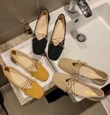 新款網紅女鞋子仙女風方頭平底奶奶鞋淺口豆豆鞋女潮 歐韓流行館