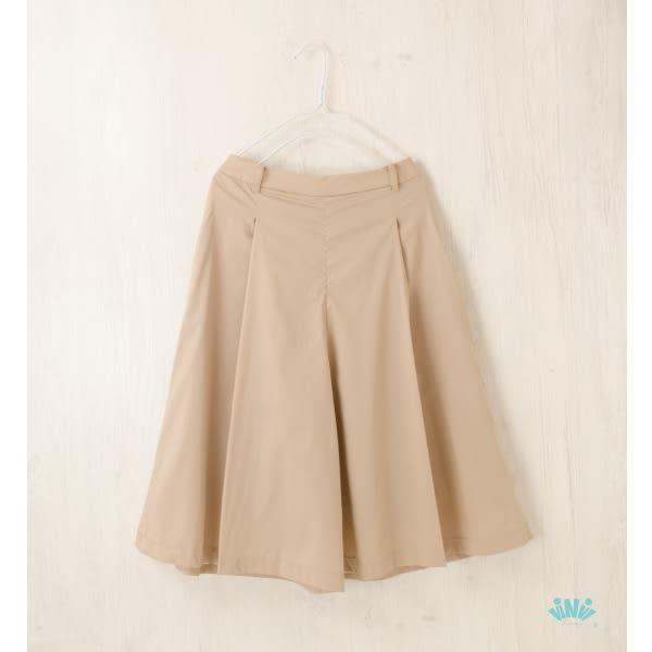 viNvi Lady 修身打褶側拉鍊七分寬褲 闊腿褲 褲裙