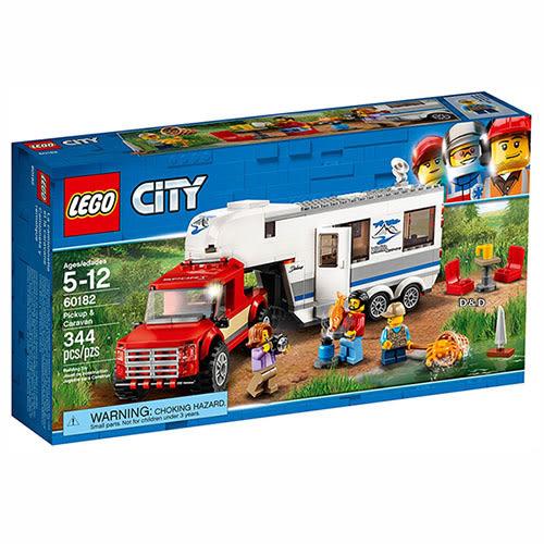 樂高積木 LEGO《 LT60182 》City 城市系列 - 皮卡車及露營車 ╭★ JOYBUS 玩具百貨