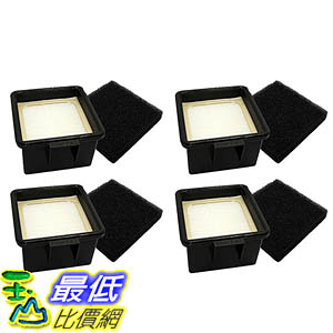 [106美國直購] 4 Dirt Devil F43 Filter Kits w/ HEPA Filter & Foam Pre-filter 2PY1105000 and 1PY1106000