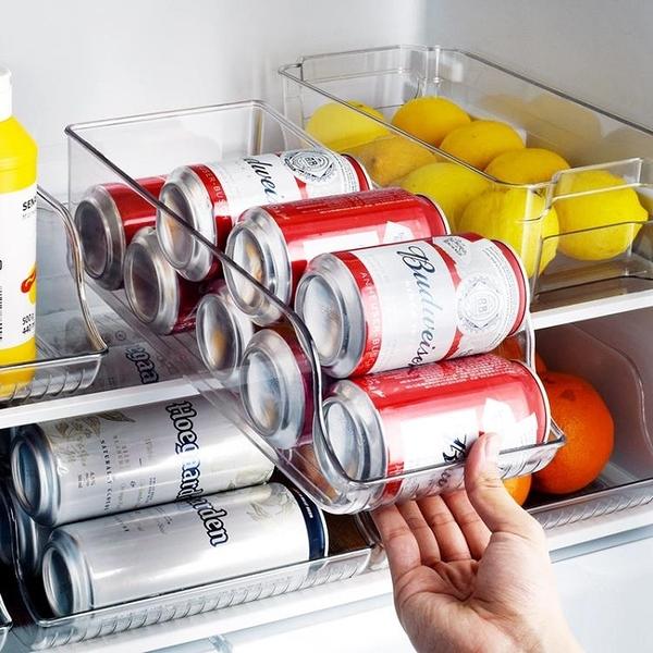 冰箱啤酒飲料收納盒廚房用品省空間易拉罐可樂雪碧整理架儲物盒子魔方科炫