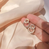 圓環耳釘女純銀