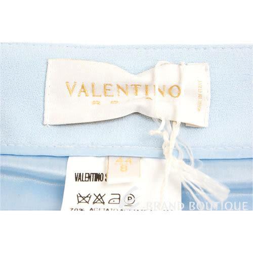 VALENTINO 藍色素面紗質及膝裙 0530028-23