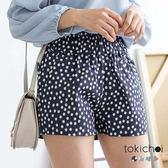 東京著衣-花朵圖案高腰短褲-XS.S.M.L(6012468)