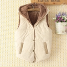冬裝新款韓版時尚加絨連帽棉衣馬甲女寬鬆學生短款棉服背心外套 寶貝計畫
