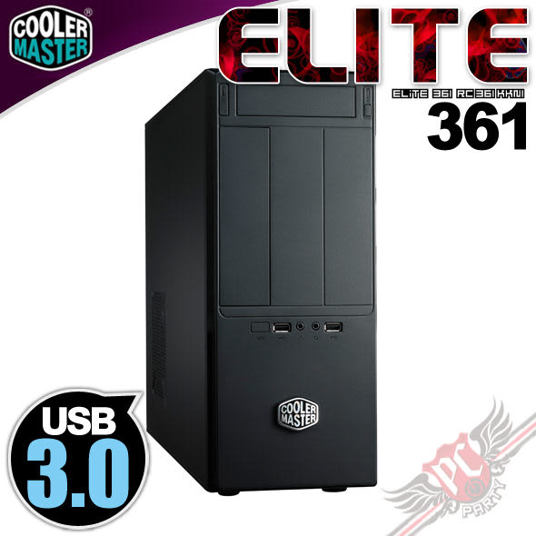 [ PC PARTY ] CoolerMaster Elite 361 USB 3.0 電腦機殼