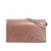 【COACH】軟皮皮夾式二用手拿/斜背包(粉金色) F39066 IMB7M