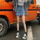 短裙a字半身裙薄款韓國東大門高腰包臀開叉牛仔短裙