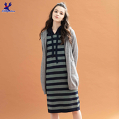 【三折特賣】American Bluedeer - 條紋連帽針織洋裝(魅力價)  秋冬新款