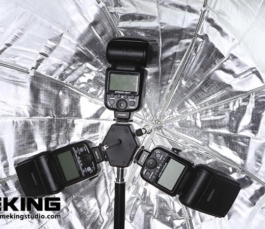 呈現攝影-selens 三合一同步熱靴座 閃燈座 通用型 CANON NIKON都適用 有觸發同步孔 離機閃