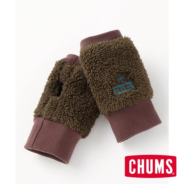 CHUMS 編織 露指手套 棕色/藍綠色 CH091125B014