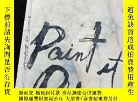 二手書博民逛書店英文原版小說罕見Paint It Black Janet Fit