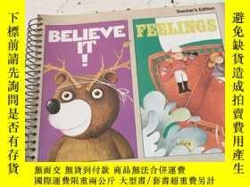 二手書博民逛書店Believe罕見it!Feelings(Teacher's E