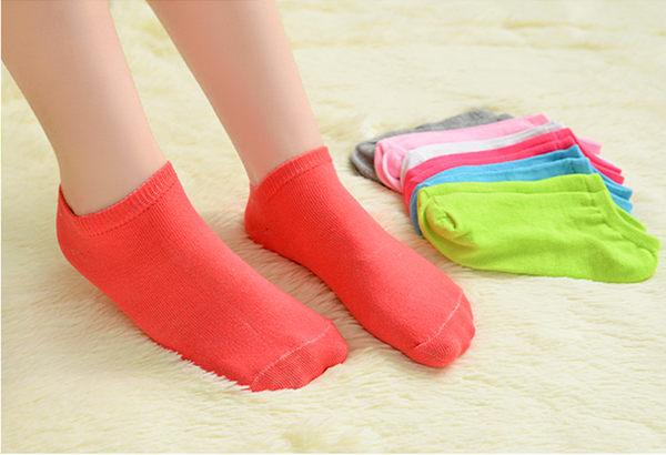 襪子【FSW049】糖果色純棉船型襪 隱形襪 短襪 螢光色 123ok
