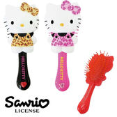 【日本進口正版】 HELLO KITTY 豹紋系列頭皮按摩梳子 隨身梳子 造型梳 凱蒂貓 005490 005506