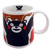 【KUMAMON 酷MA萌】熊本熊紅色馬克杯 巧克力牛奶款