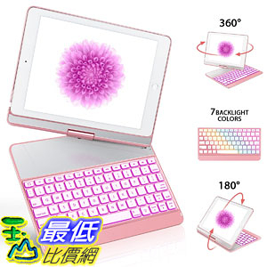 [107美國直購] iPad 9.7 Keyboard Case for iPad 2018(6th Gen)/2017(5th Gen)/iPad Pro 9.7/Air 2/Air