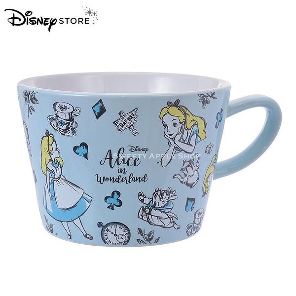 日本 DISNEY STORE 迪士尼商店限定 愛麗絲家族  素描版 馬克杯
