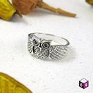 戒指 Owl 貓頭鷹之森 925純銀戒指...