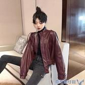 秋季2019新款韓版寬鬆設計感帥氣機車服長袖夾克外套女ins上衣潮 交換禮物