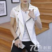 馬甲男春季新款韓版潮流修身帥氣個性坎肩無袖背心男士牛仔外套