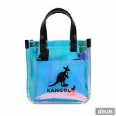 KANGOL 包 英國袋鼠 透明炫彩 子母包 手提側背包 - 6055302106