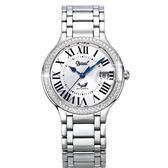 Ogival 瑞士愛其華 旗艦典華時尚自動機械腕錶-品味銀/40mm