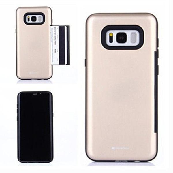 【SZ24】GOOSPERY三星GALAXY S8plus手機殼 側面插卡防摔殼 S8手機殼