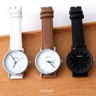 手錶 線條刻度皮革中性腕錶 柒彩年代【N...