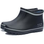 雨鞋男款低筒休閒雨靴男士低筒水靴短筒防水鞋釣魚鞋新款橡膠套鞋