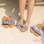 i PINK 泰國直送 夏日必備綁結舒適軟底勃肯拖鞋(3色)