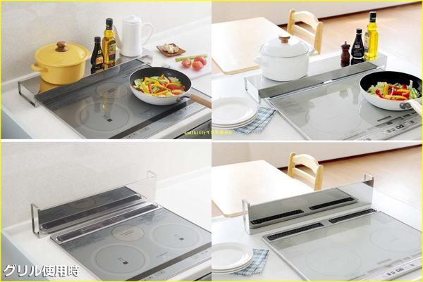 asdfkitty可愛家☆日本ARNEST 長型不鏽鋼置物架-可放在瓦斯爐或IH爐前面-也可當檔板-日本製