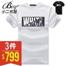 潮流短T 美式黑白碎花短袖T恤【PPK82142】