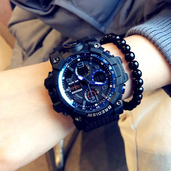 手錶 潮牌時尚潮流手錶男女學生韓版簡約初中青少年情侶電子錶運動防水 星河光年