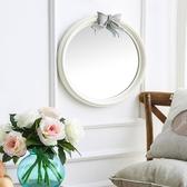 [超豐國際]歐式樹脂裝飾鏡子玄關鏡背景墻藝術玻璃壁飾掛鏡化妝1入