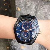 POLICE義大利國際品牌潮流型男日曆腕錶15443JSB-03A原廠公司貨