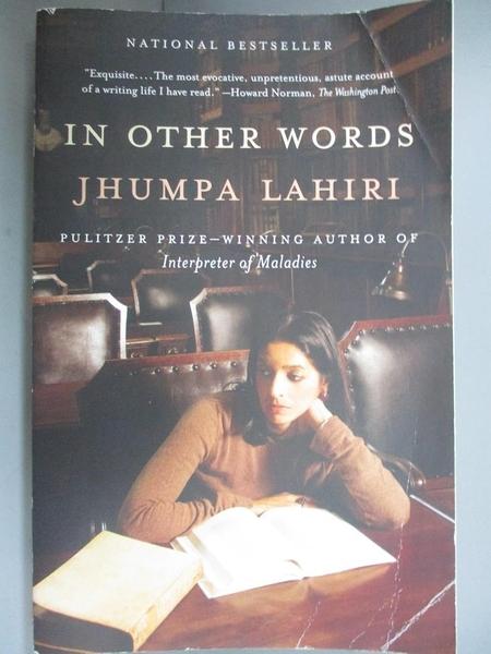【書寶二手書T2/進修考試_G7X】In Other Words_Lahiri, Jhumpa/ Goldstein, Ann (TRN)