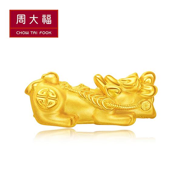 招財貔貅黃金路路通串飾/串珠 周大福