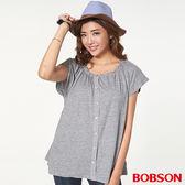 BOBSON 女款抽皺寬鬆上衣(27077-87)