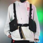 街頭嘻哈潮人網紅新款腰包蹦迪包港風胸包馬甲包機能戰術子彈包 KOKO時裝店