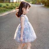 女童韓版連身裙小女孩蓬蓬紗公主裙兒童洋氣裙子吾本良品