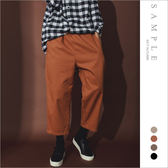 現貨 韓國製 休閒長褲 九分寬褲【PL19242】- SAMPLE