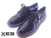 XES 亮彩馬丁鞋 黑色