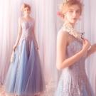禮服洋裝 輕靈仙風藍色魚尾婚紗敬酒服生日晚宴年會676t - 雙十二交換禮物